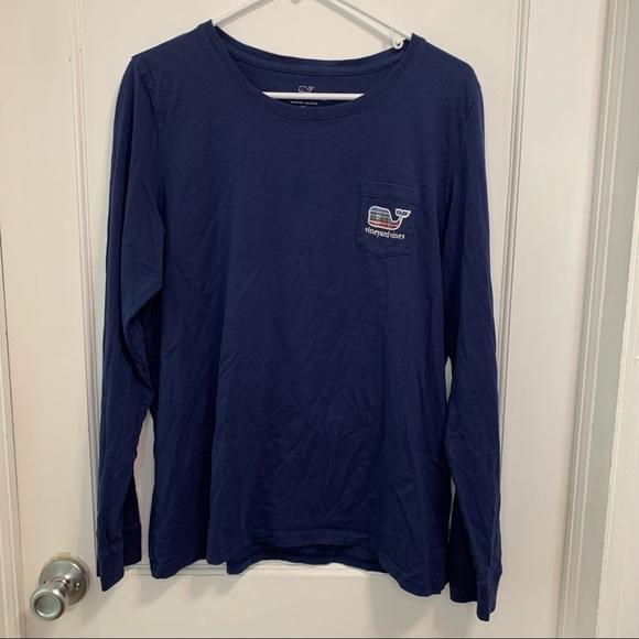 Vineyard Vines long sleeve plaid whale T-shirt